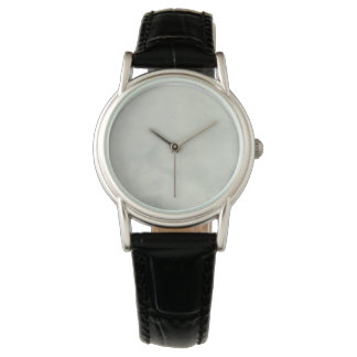 for women classic black leather strap watch