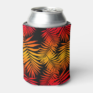For Women Teen Girls Palm Tree Leaf Sunset Can Cooler