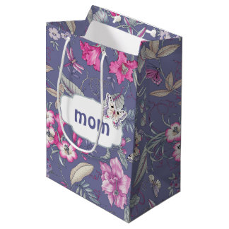 For You, Mom. Flowers & Butterfly Gift Bags
