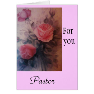 For You Pastor Greeting Cards