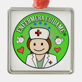 For your favorite nurse take care of to me Silver-Colored square decoration