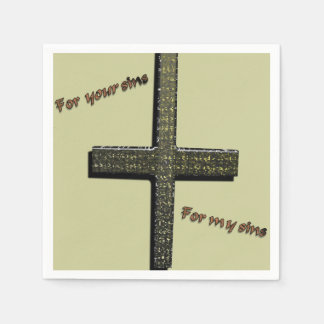 For Your Sins, for My Sins Napkins Disposable Serviette