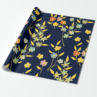 Foral design wrapping paper