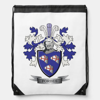 Forbes Family Crest Coat of Arms Drawstring Bag