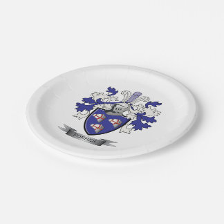 Forbes Family Crest Coat of Arms Paper Plate