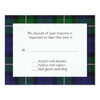 Forbes Plaid RSVP Card