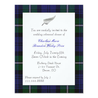 Forbes Plaid Wedding Rehearsal Dinner Invitation