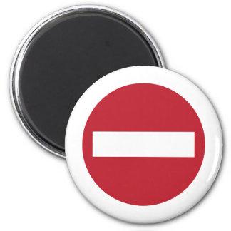 Forbidden ! 6 cm round magnet