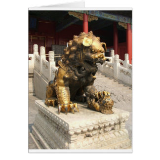 Forbidden City Bronze Lion Card