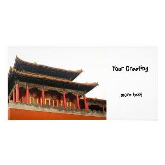 Forbidden City Building Customized Photo Card