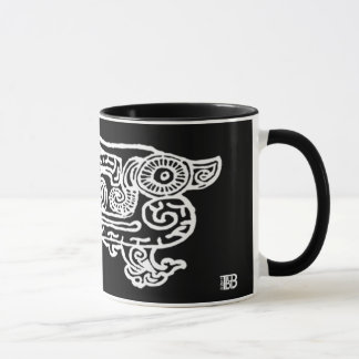 Forbidden City Dragon 11oz inverse print combo mug