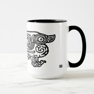 Forbidden City Dragon 15oz combo mug