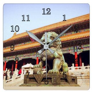 Forbidden City Square Wall Clock