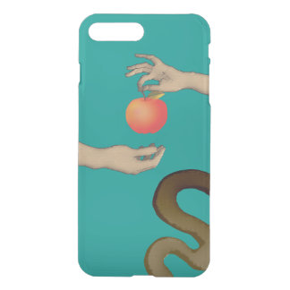 Forbidden Fruit Apple Adam Eve Simple Stylish Blue iPhone 8 Plus/7 Plus Case