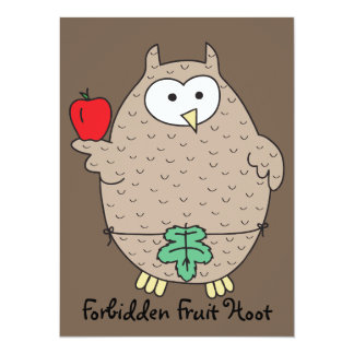 Forbidden Fruit Hoot 14 Cm X 19 Cm Invitation Card