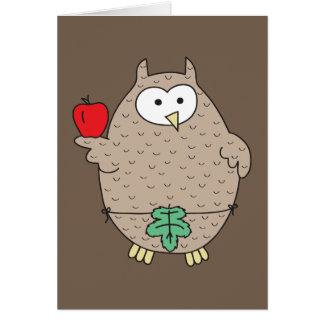 Forbidden Fruit Hoot Greeting Card