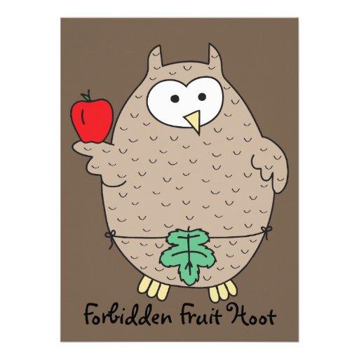 Forbidden Fruit Hoot Custom Invites