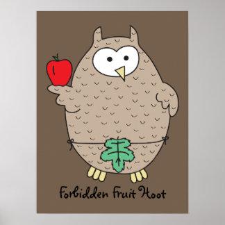 Forbidden Fruit Hoot Print