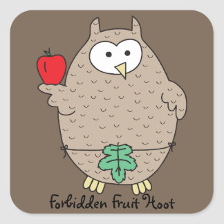 Forbidden Fruit Hoot Square Sticker