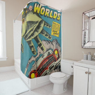 forbidden worlds mysterious cigarettes shower curtain