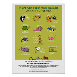 "Force-Free Animal Training Poster (18""x24"")"