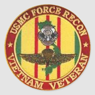 FORCE RECON VIETNAM VETERAN CLASSIC ROUND STICKER