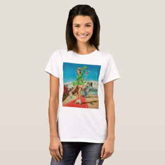 Forced landing retro pinup girl T-Shirt