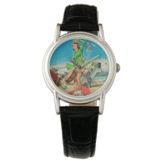 Forced landing retro pinup girl watch