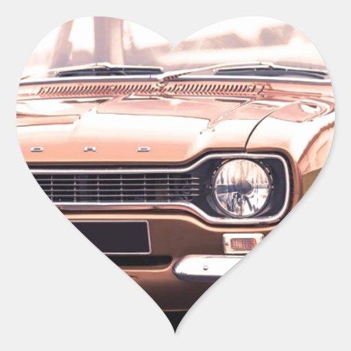 Ford Escort MK I Heart Sticker