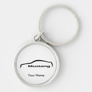 Ford Mustang GT Coupe black and white Key Chains