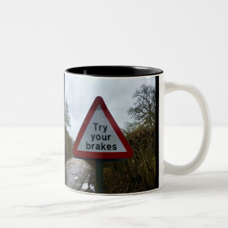Ford Try Your Brakes Warning Road Sign Mug