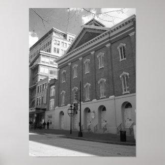 Ford's Theatre Washington Dc Black And White Photo Poster