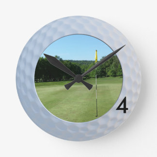 Fore Golfer's Fairway Round Wall Clock