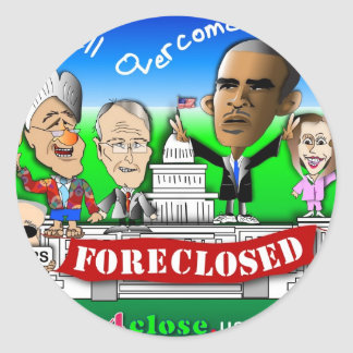 Foreclose United States House and Senate Round Sticker
