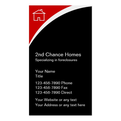 Foreclosures Real Estate Business Cards