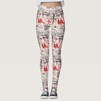Foreign Torn Peeled Billboard Leggings