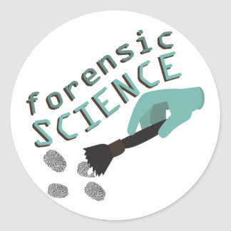 Forensic Science Classic Round Sticker