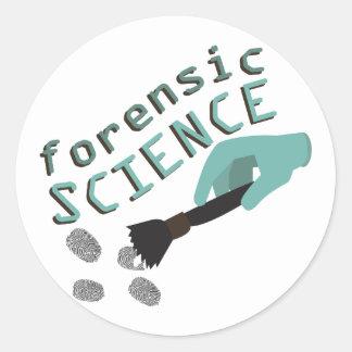 Forensic Science Round Sticker