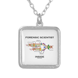 Forensic Scientist Inside (DNA Replication) Silver Plated Necklace