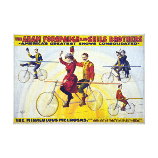 Forepaugh & Sells Brothers Vintage Circus Poster Gallery Wrapped Canvas