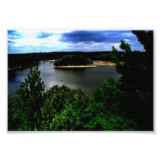 Forest and A Lake Photo Print