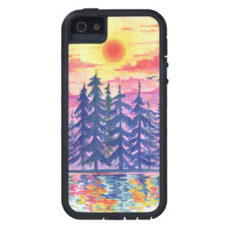 Forest and lake at dusk, iPhone5/5s iPhone 5 Cover