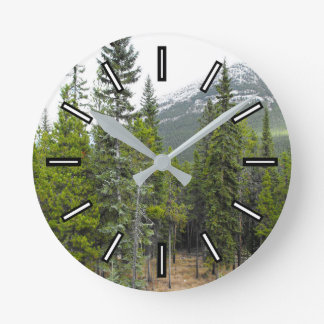 Forest and Mountain Scene Clock