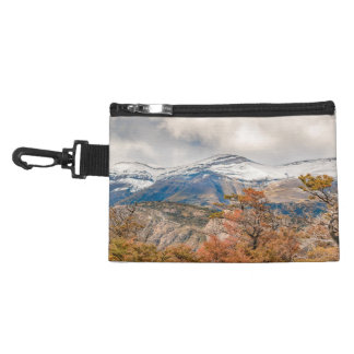 Forest and Snowy Mountains, Patagonia, Argentina Accessory Bag