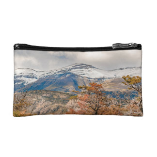 Forest and Snowy Mountains, Patagonia, Argentina Cosmetic Bag