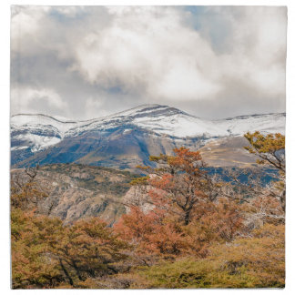Forest and Snowy Mountains, Patagonia, Argentina Napkin