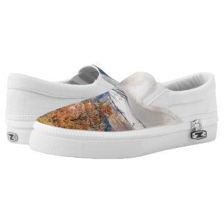 Forest and Snowy Mountains, Patagonia, Argentina Printed Shoes