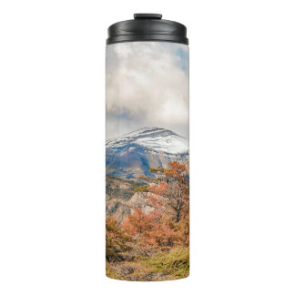 Forest and Snowy Mountains, Patagonia, Argentina Thermal Tumbler