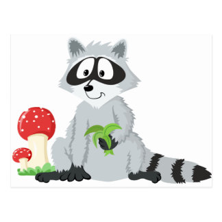 Forest Animals Raccoon Postcard