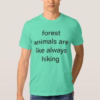forest animals t-shirt